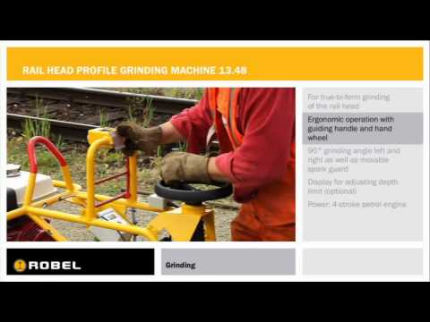 rail head profile grinding machine 13.48