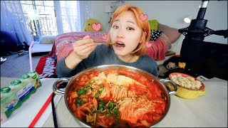 Best Pork Kimchi Stew I ever made..... Mukbang | KEEMI★