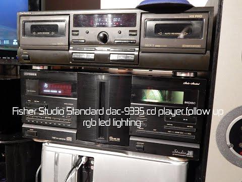 Fisher Studio Standard Dac-9335 Cd Player Follow Up Rgb Cabinet Lights
