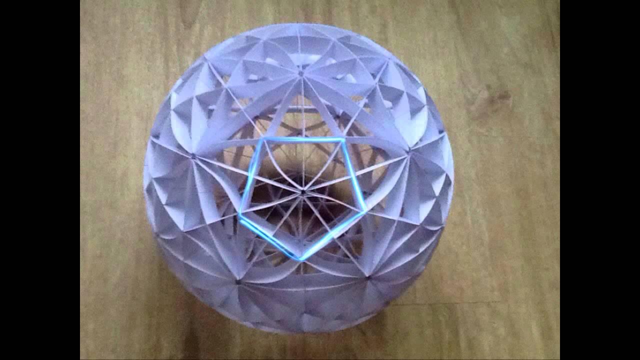 Papercraft sliceform - papercraft - kusudama - 31 great circles - tutorial - dutchpapergirl
