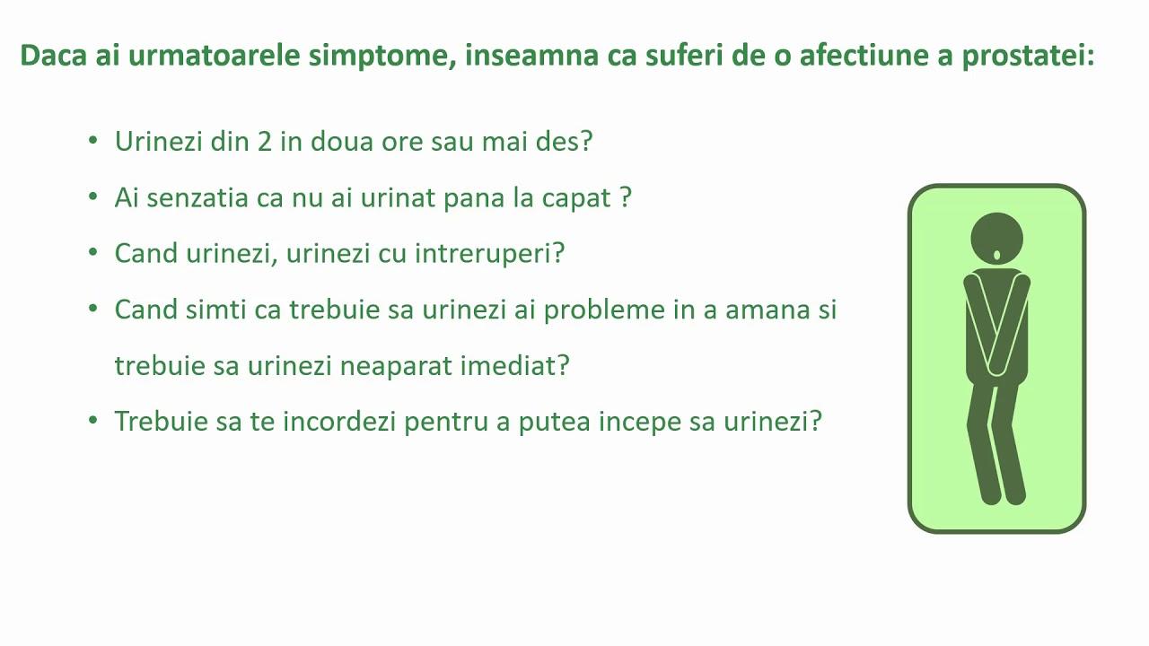 afectiuni próstata simptome