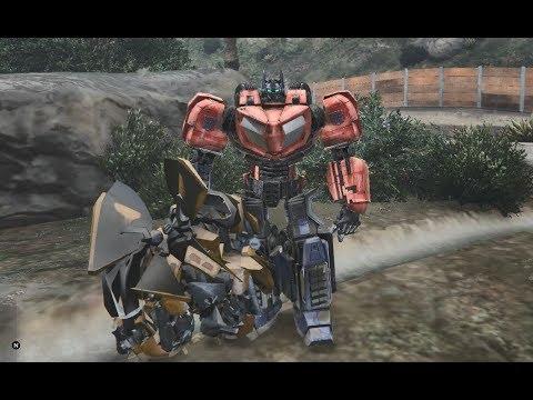 GTA 5 – Người máy Transformers đại chiến với Robot nhân tạo GHTG