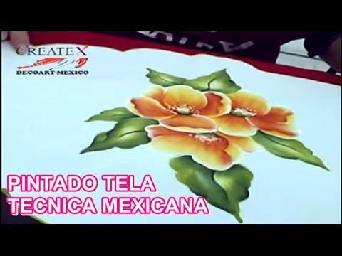 PINTANDO TELA TECNICA MEXICANA  YouTube