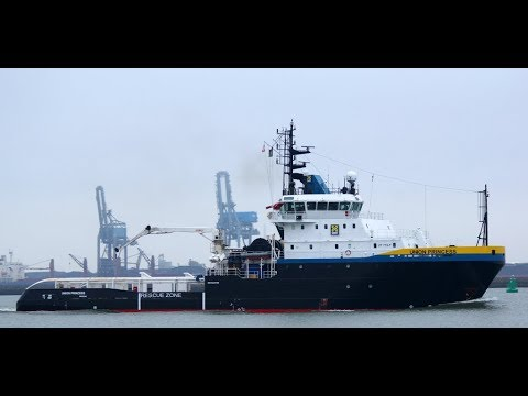 "Salvage Tug ""ANGLIAN PRINCESS"" - ""UNION PRINCESS"", SMIT - BOSKALIS leaving Rotterdam. Decb 2.017"