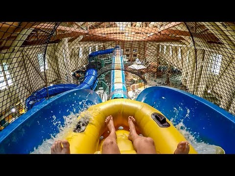 "AMAZING Blaster Water Slide ""Hydro Plunge"" at Great Wolf Lodge Poconos"