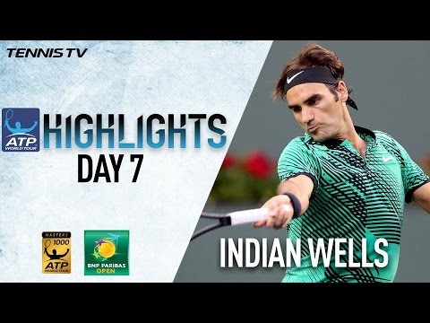Highlights: Federer, Kyrgios, Wawrinka Win At Indian Wells 2017