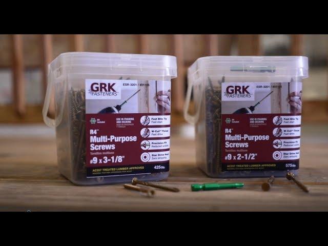 GRK R4 Multi-Purpose Framing & Decking Screws