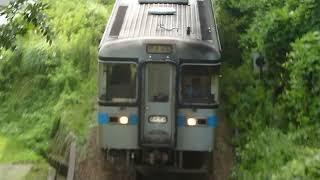 JR四国 土讃線 1000形気動車 阿波池田駅付近通過