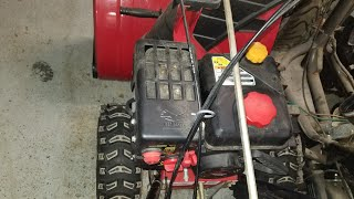MTD Troy Bilt Snow Blower Won't Start Carburetor Cleaning and Repair