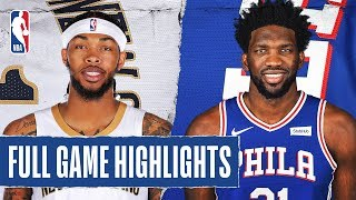 Gambar cover PELICANS at 76ERS   FULL GAME HIGHLIGHTS   December 13, 2019