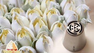 Wie man richtig mit russischen Spritztüllen Blumen spritzt | GELING TIPPS | VanilleTanz