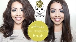 """Amika♥ Hair Straightening Brush """"DEMO/REVIEW + GIVEAWAY"""""""