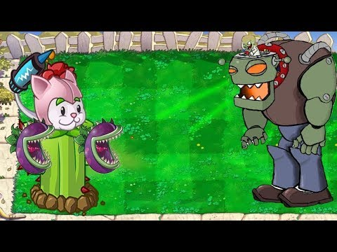 Plants vs Zombies - Cattail Chomber vs Dr. Zomboss Final