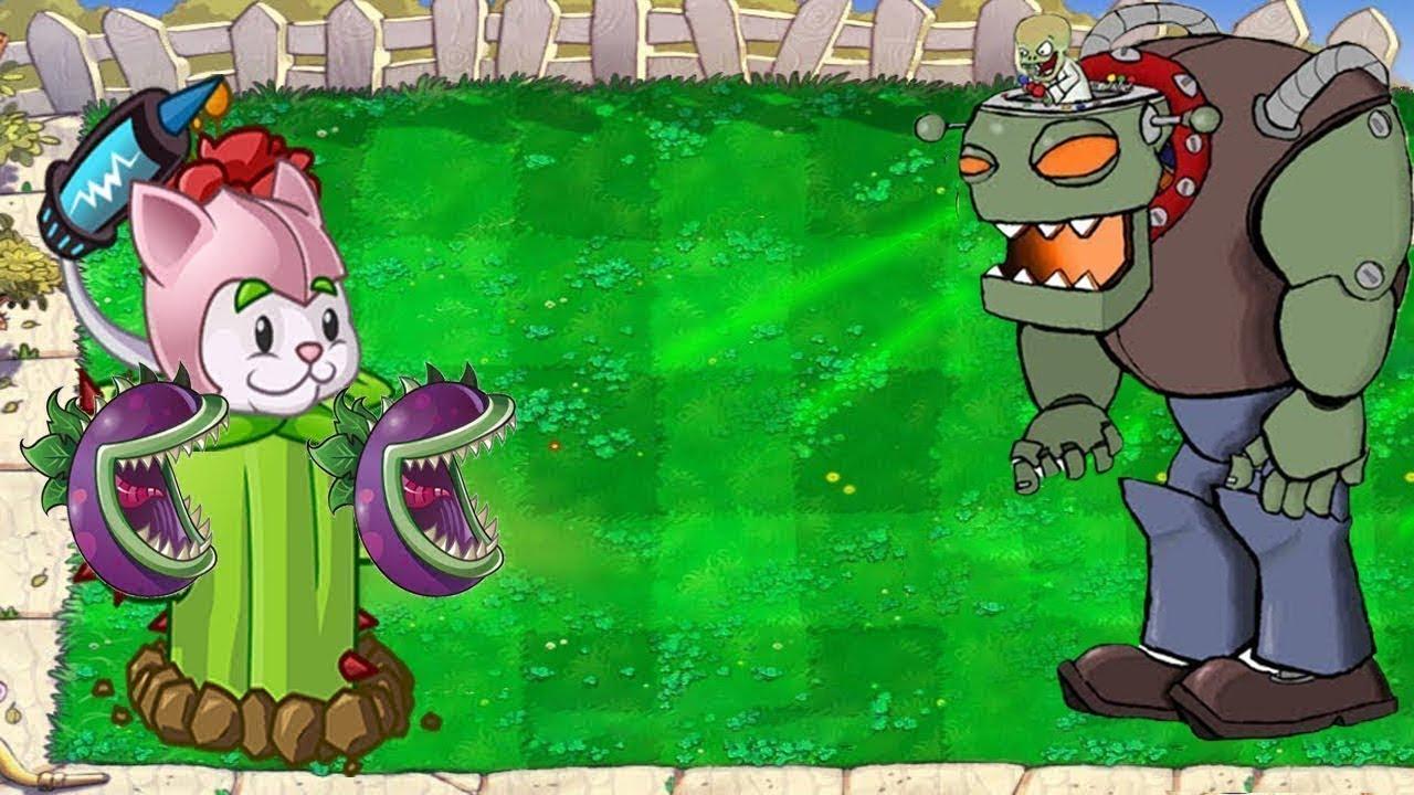 Plants vs Zombies - Cattail Chomber vs Dr  Zomboss Final