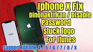 Cara mengatasi Iphone 7/8/X stuck di logo apple.