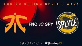 Video Fnatic vs Splyce - LCS EU Spring Split 2018 - Week 1 Day 1 - League of Legends download MP3, 3GP, MP4, WEBM, AVI, FLV Juli 2018