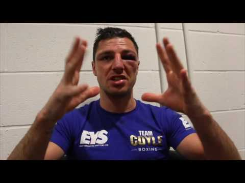 EMOTIONAL TOMMY COYLE REACTS TO HEART-BREAKING DEFEAT TO TYRONE NURSE IN BRITISH TITLE BID