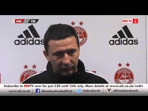Aberdeen- Derek McInnes post match v Celtic