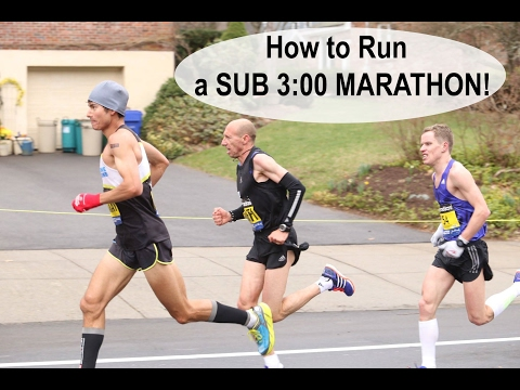 Thumbnail: HOW TO RUN A SUB 3 HOUR MARATHON! | Sage Running Training Tips and Workouts