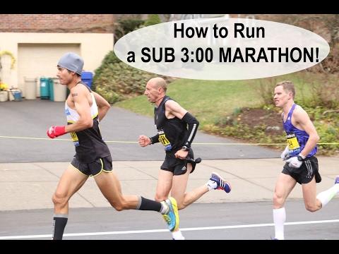 Conception innovante eca53 27c2b HOW TO RUN A SUB 3 HOUR MARATHON! | Sage Running Training ...