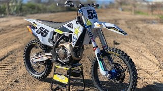 First Ride 2019 Husqvarna FC450 Rockstar Edition - Motocross Action Magazine Video