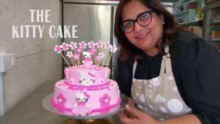 The Hello Kitty Cake: Cake Decorating Free Tutorial