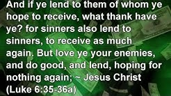 Interest Free Loans. No Usury No Interest. Christian Lending.