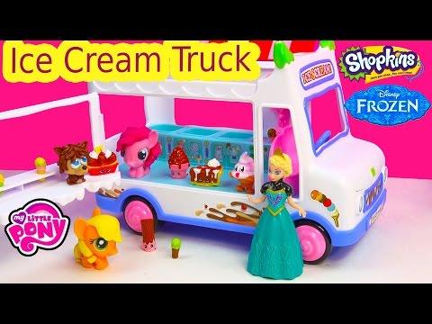 moshi-monsters-ice-cream-truck-queen-elsa-mlp-fash'ems-shopkins-ice-scream-food-factory-fun