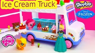 Moshi Monsters  Ice Cream Truck Queen Elsa Mlp Fash'ems Shopkins Ice Scream Food Factory Fun