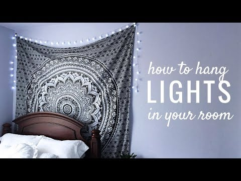 How to Hang String Lights in Your Room | EASY
