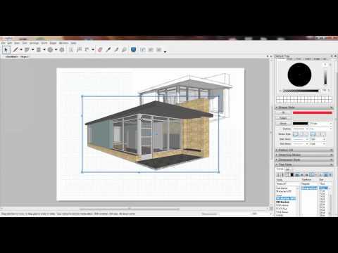 Sketchup #16 - Biết tần tật về Layout sketchup [phụ đề]