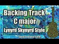 Tuesday's Gone Style Backing Track in C major - Lynyrd Skynyrd Southern Rock Guitar Backtrack