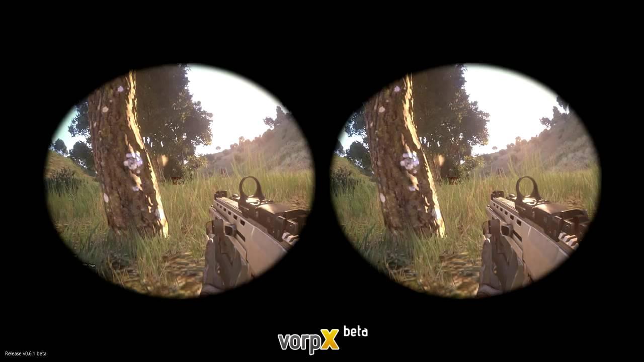 Ukážka z Arma 3 cez VorpX