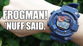 The Only ISO 6425 G-Shock Series! Casio Frogman GF-8250