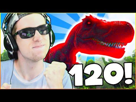 TAMING A MAXIMUM LEVEL DINOSAUR! - ARK: YouTuber Survival #60