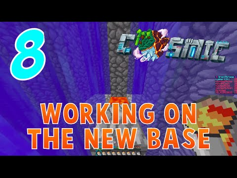 """WORKING ON A NEW BASE!"" - CosmicPVP Ice Planet Factions (Season 3 EP 8)"