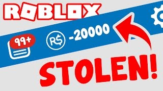 STOLEN ROBUX ON ROBLOX!!!