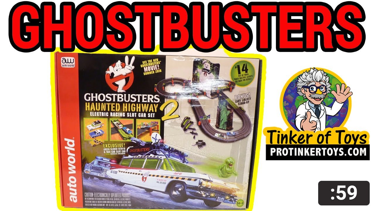 Auto World 14/' Ghostbusters Hauted Highway 2 Race Set HO Scale
