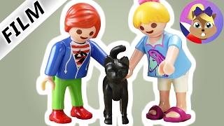 Playmobil příběh | Hanka a Julian sami doma! Kdo drápy na dveře?