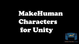 MakeHuman Characters in Unity