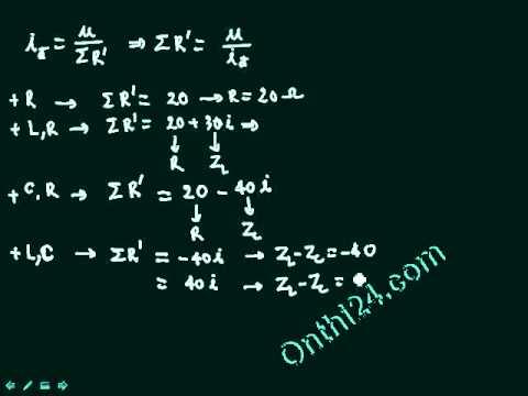 sử dụng máy tính để giải bài toán điện xoay chiều