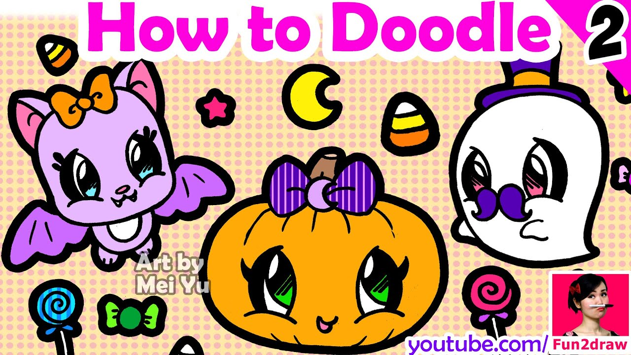 Uncategorized How To Draw Halloween Things how to draw easy things halloween art youtube art