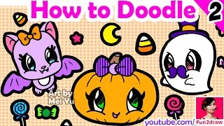 How to Draw EASY Things - HALLOWEEN ART