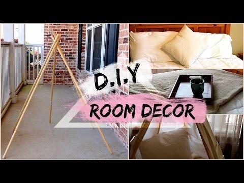 D.I.Y.  Room Decor | Tumblr Inspired Modern Chic