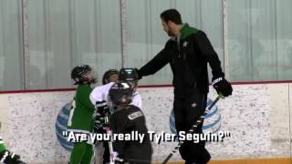 Bradley skating with Tyler Seguin.