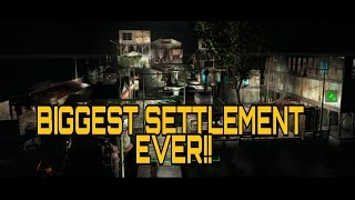 Fallout 4: BIGGEST SETTLEMENT BUILD AT EGRET TOURS MARINA!!