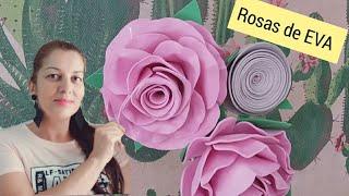 Aprenda a Fazer Rosas de EVA – 2 Maneiras Fáceis de Fazer