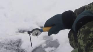 Зимняя рыбалка.Озеро Хотень.