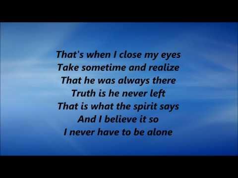 CeCe Winans - Never Have To Be Alone (Lyrics)