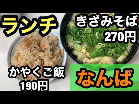 【飯テロ】大阪なんばの安い早い旨いのうどん屋さんを紹介します!【もぐもぐもっち】